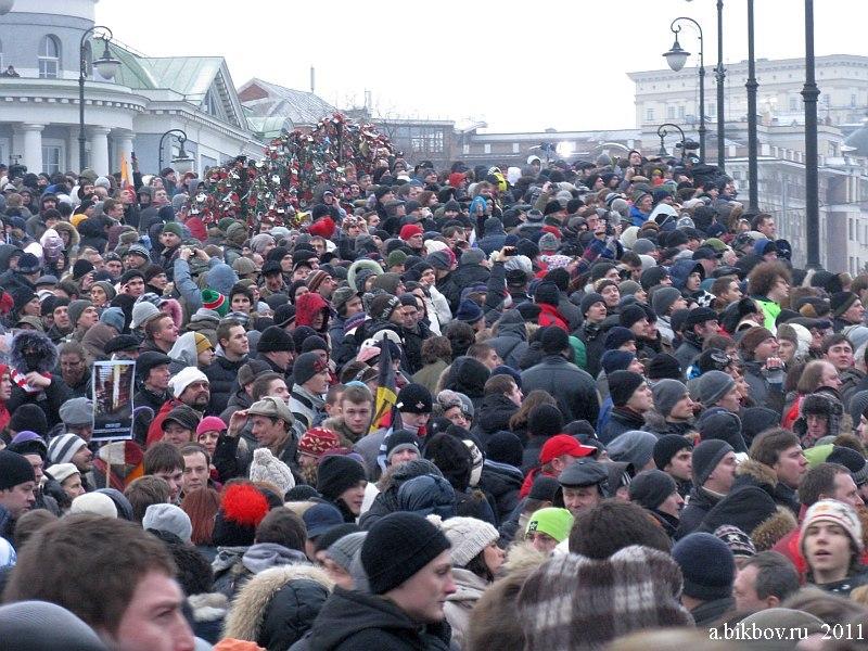 La multitude de la rue de Moscou