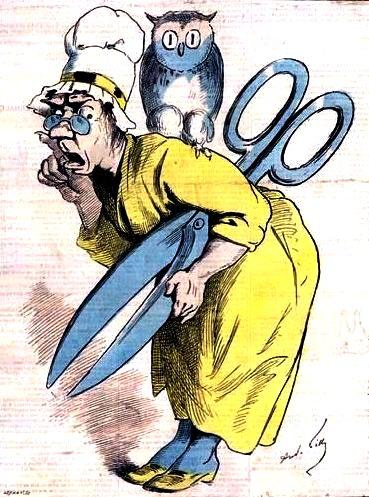 Мадам Анастасия, или Цензура. Французская карикатура 1870-х