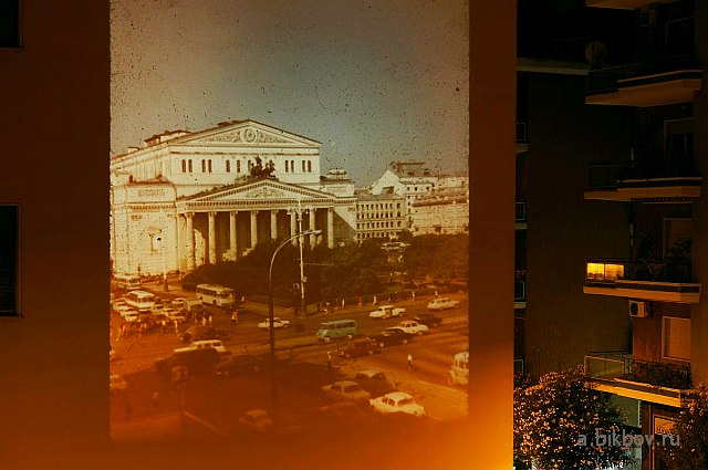 Bolshoi Theatre (Moscow) in the streets of Rome