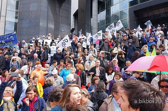 Paris Bastille, dirigeants a la manifestation contre la reforme Macron du Code du travail