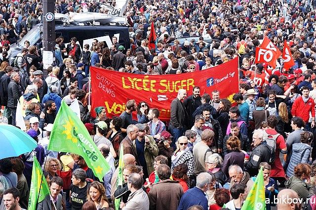 Paris Bastille, manifestation contre la reforme Macron du Code du travail