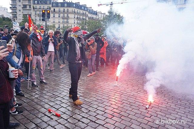 Paris, manifestation contre la reforme Macron du Code du travail